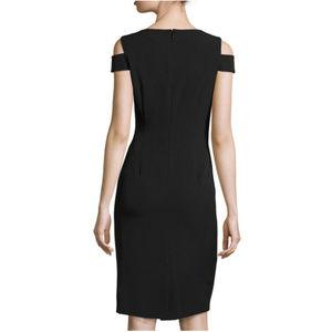 b344d359102b Tahari Dresses | Asl Coldshoulder Cutout Crepe Black Dress | Poshmark